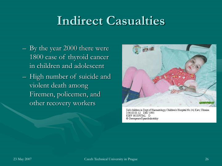 By the year 2000 there were 1800 case of thyroid cancer in children and adolescent