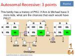 autosomal recessive 3 points
