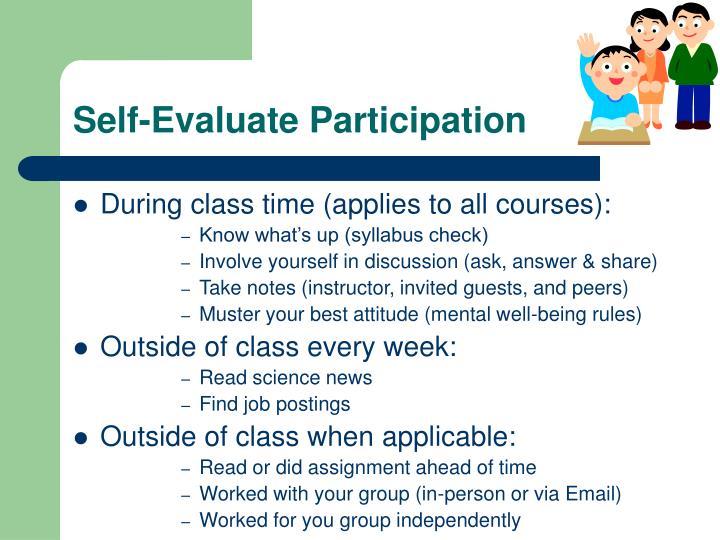 Self-Evaluate Participation