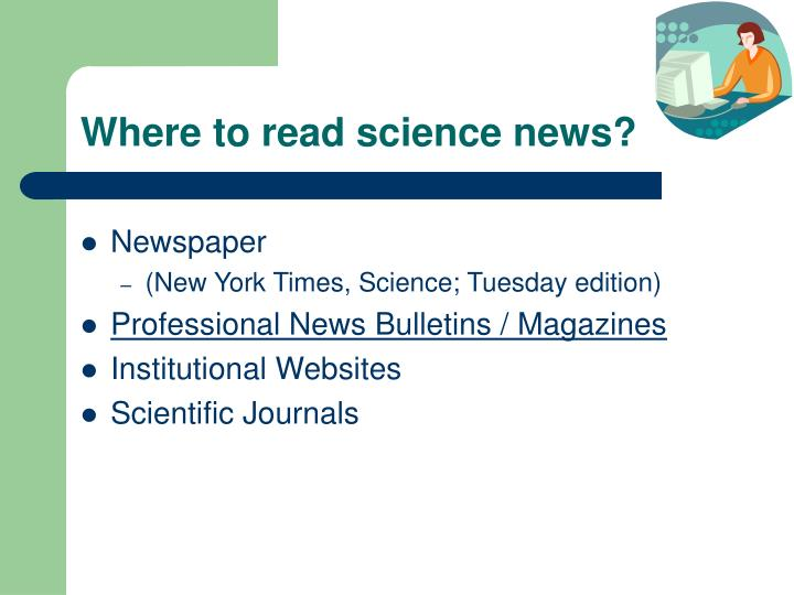 Where to read science news?