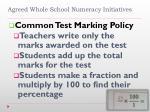 agreed whole school numeracy initiatives