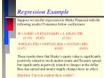 regression example