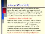 value at risk var