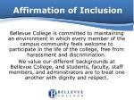affirmation of inclusion