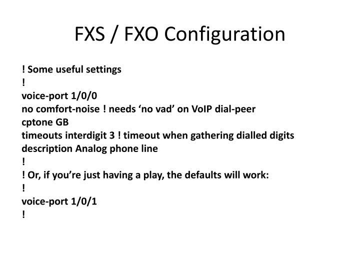 FXS / FXO Configuration