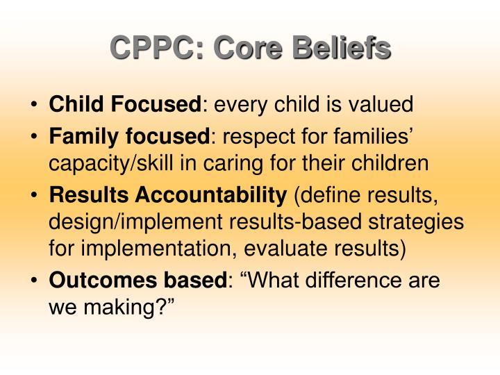 CPPC: Core Beliefs