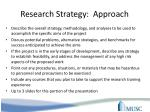 research strategy approach