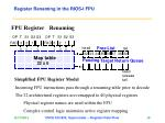 register renaming in the rios i fpu