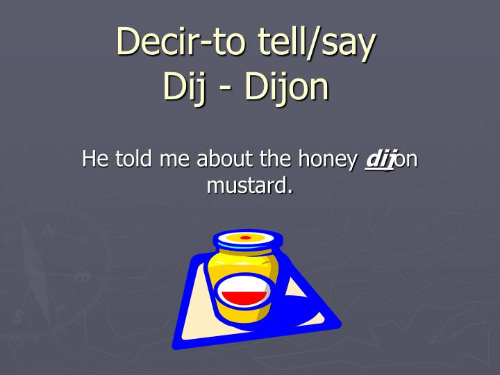Decir-to tell/say