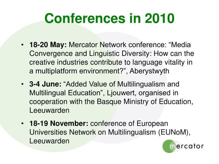 Conferences in 2010