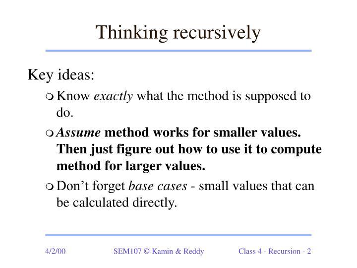 Thinking recursively
