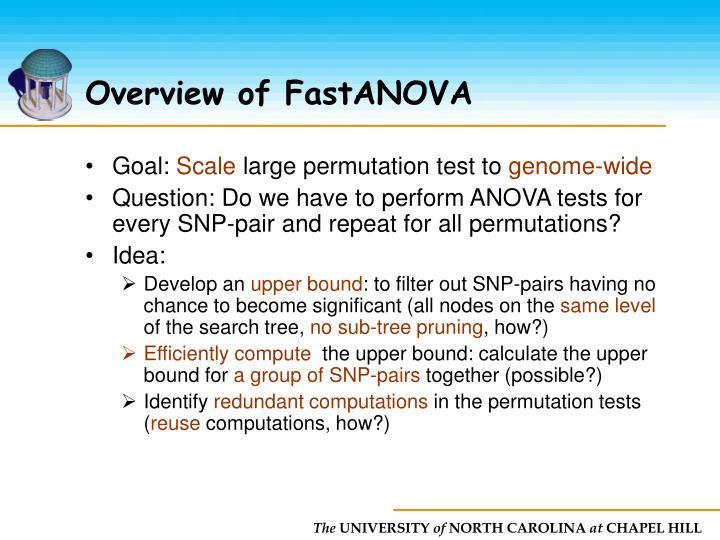 Overview of FastANOVA