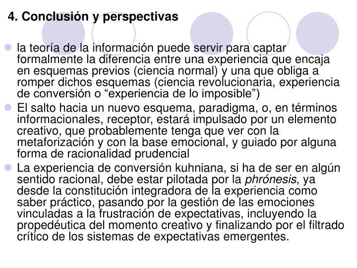 4. Conclusión y perspectivas