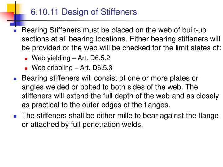 6.10.11 Design of Stiffeners