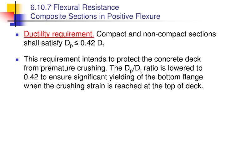 6.10.7 Flexural Resistance