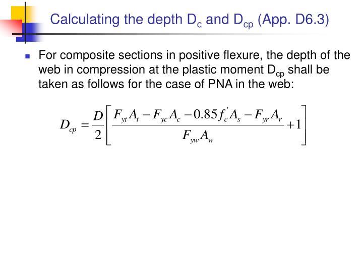 Calculating the depth D