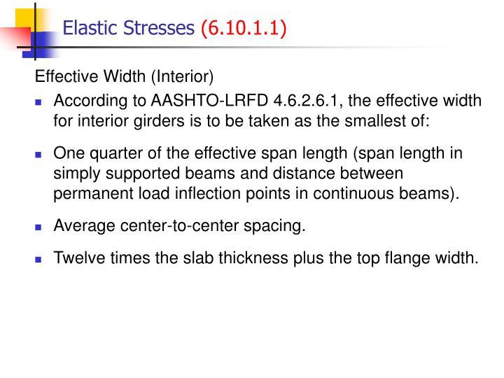 Elastic stresses 6 10 1 11