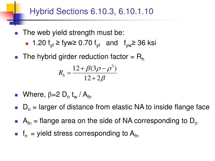 Hybrid Sections 6.10.3, 6.10.1.10