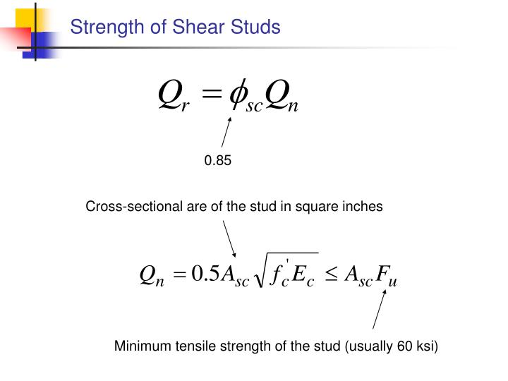 Strength of Shear Studs