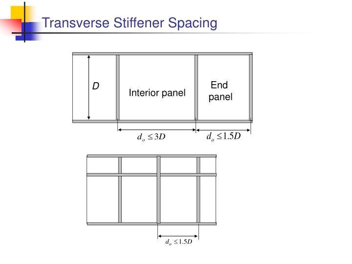 Transverse Stiffener Spacing