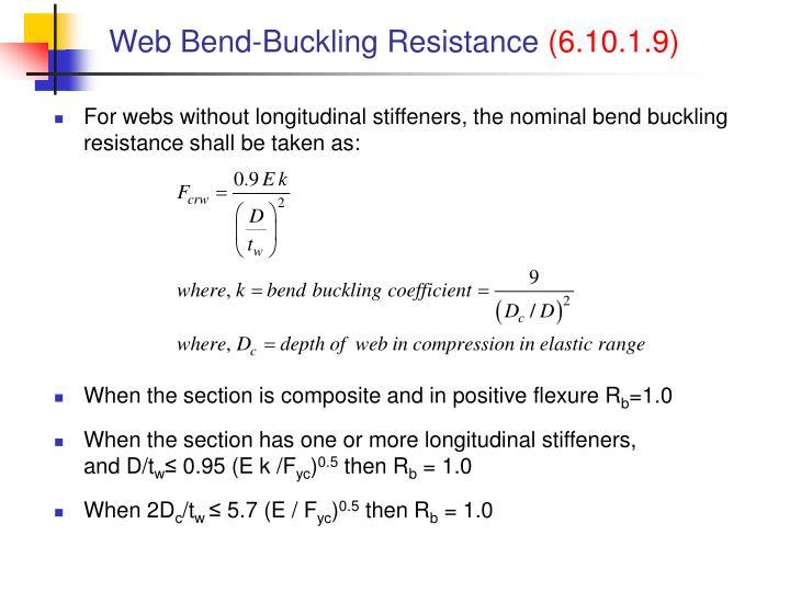 Web Bend-Buckling Resistance