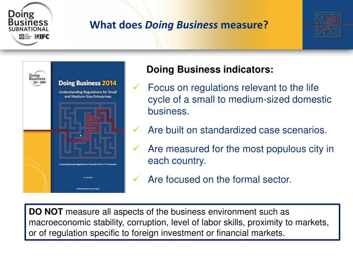 What does doing business measure