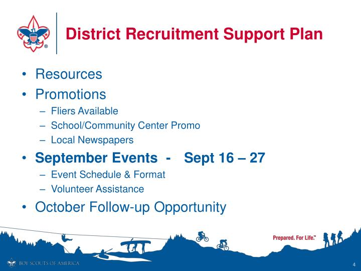 District Recruitment Support Plan