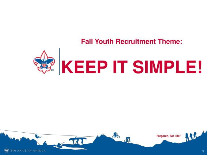 Fall youth recruitment theme keep it simple