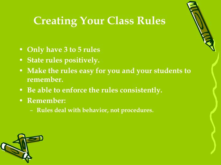 Creating Your Class Rules