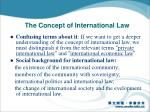 the concept of international law1