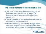 the development of international law1