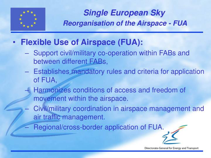 Reorganisation of the Airspace - FUA