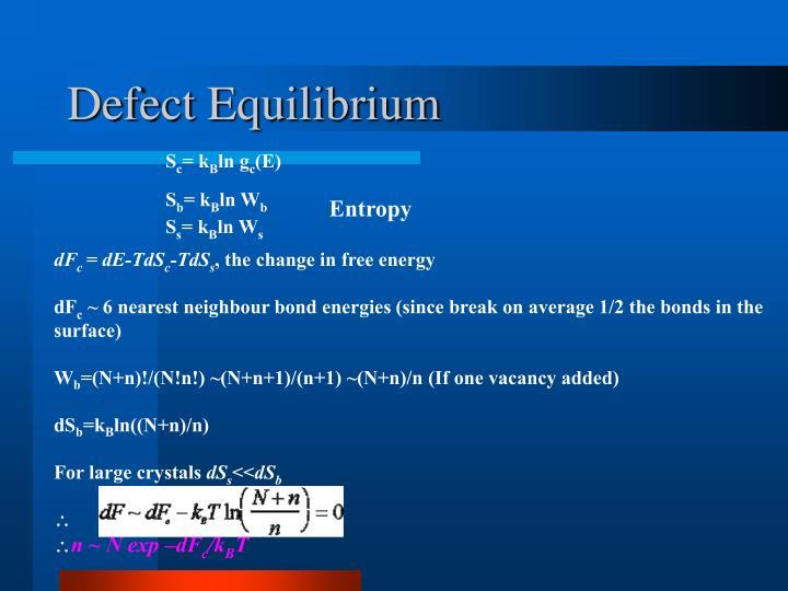 Defect Equilibrium
