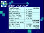 budget 2008 2009