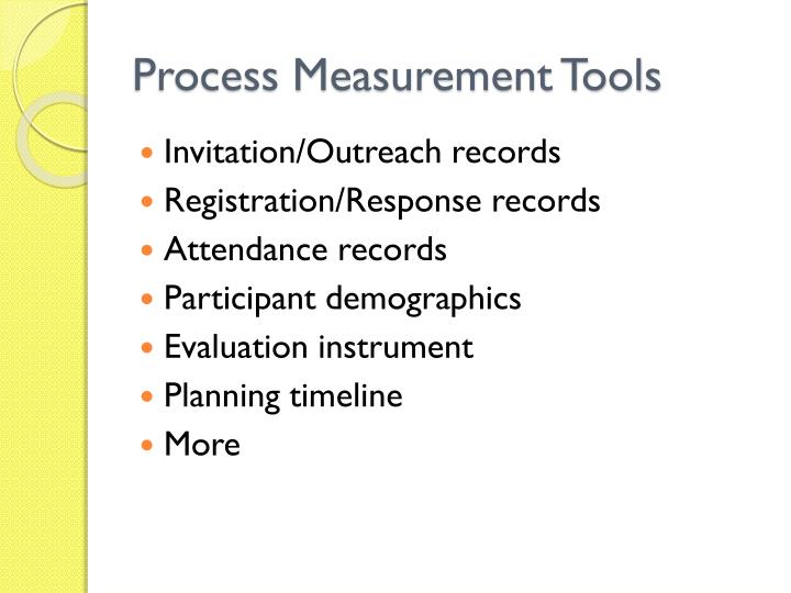 Process Measurement Tools