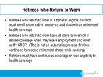 retirees who return to work