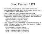 chou fasman 1974