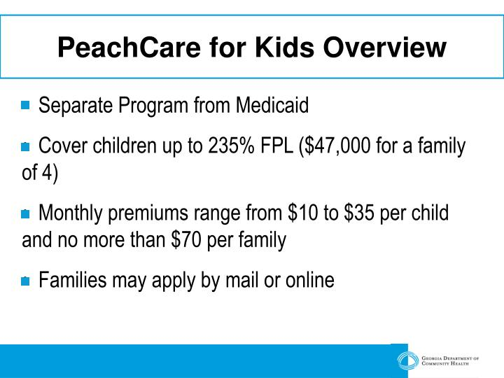 Peachcare for kids overview