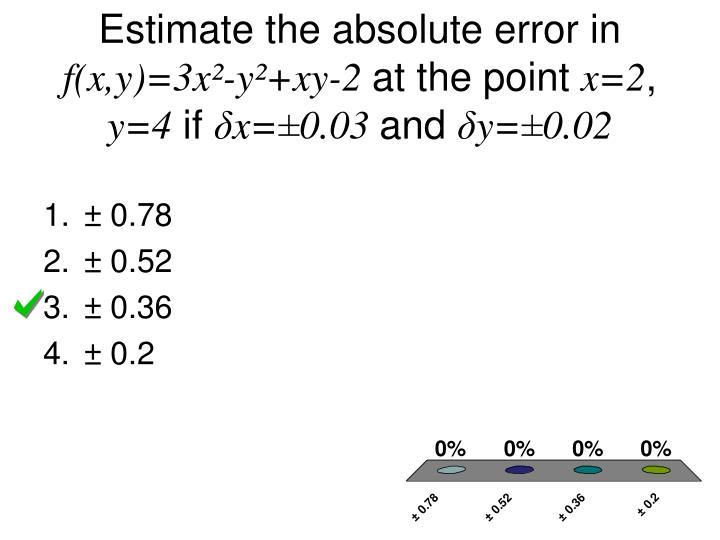 Estimate the absolute error in