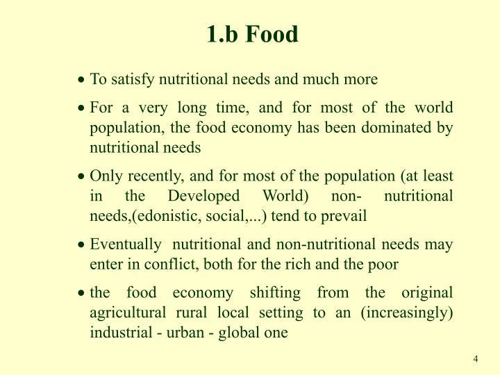 1.b Food
