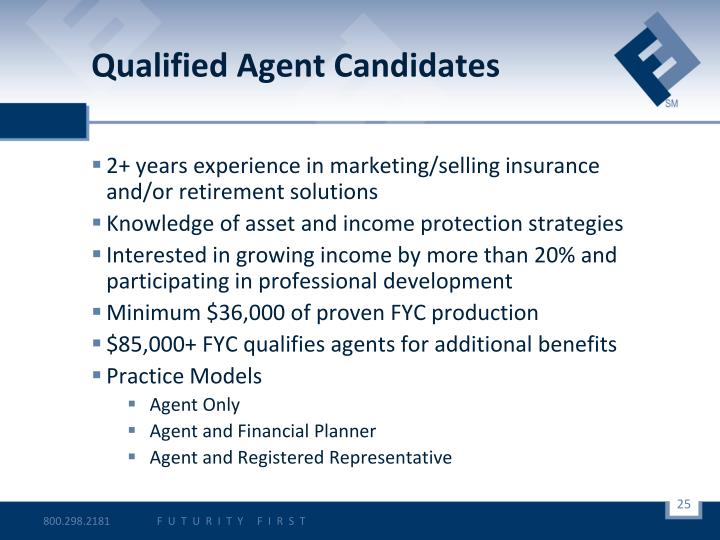 Qualified Agent Candidates