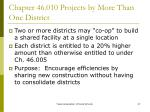 chapter 46 010 projects by more than one district