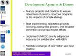 development agencies donors
