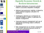 equitable economic growth resilient infrastructure