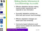 making quality information local knowledge accessible