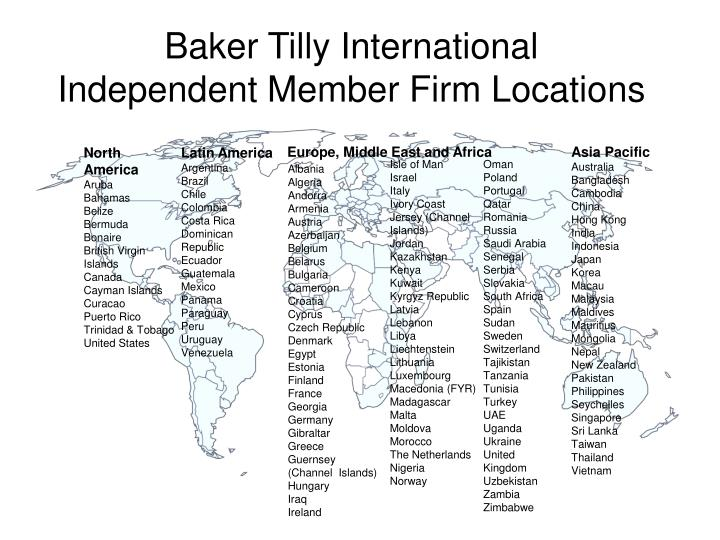 Baker tilly international independent member firm locations1