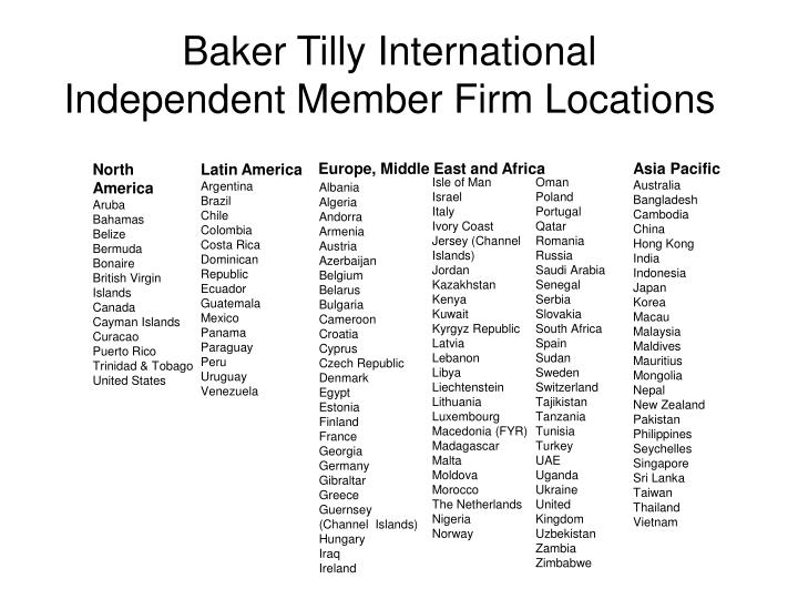 Baker tilly international independent member firm locations2