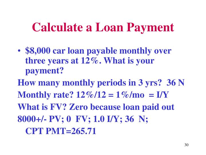 Calculate a Loan Payment