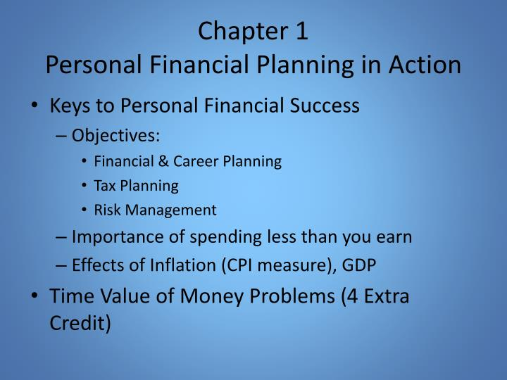 Chapter 1 personal financial planning in action