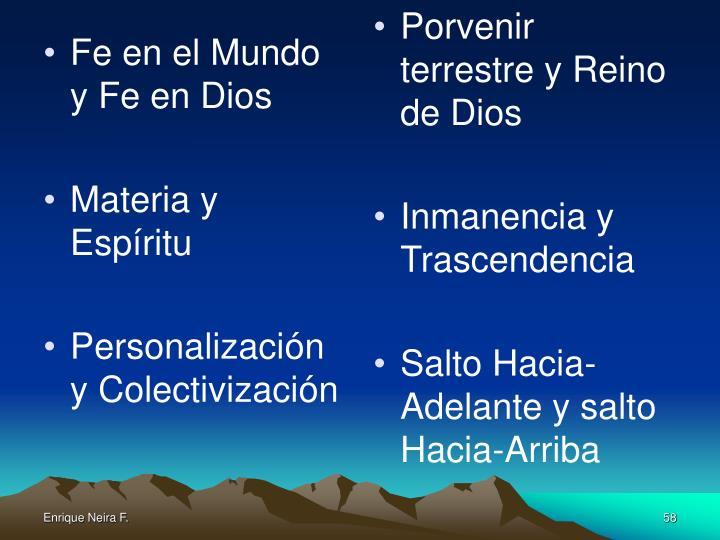 Fe en el Mundo y Fe en Dios